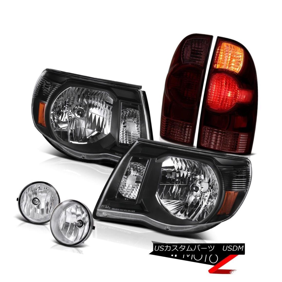 ヘッドライト 05-11 Tacoma 2.7L Rear brake lights headlights euro chrome fog lamps Replacement 05-11タコマ2.7Lリアブレーキライトヘッドライトユーロクロームフォグランプ交換