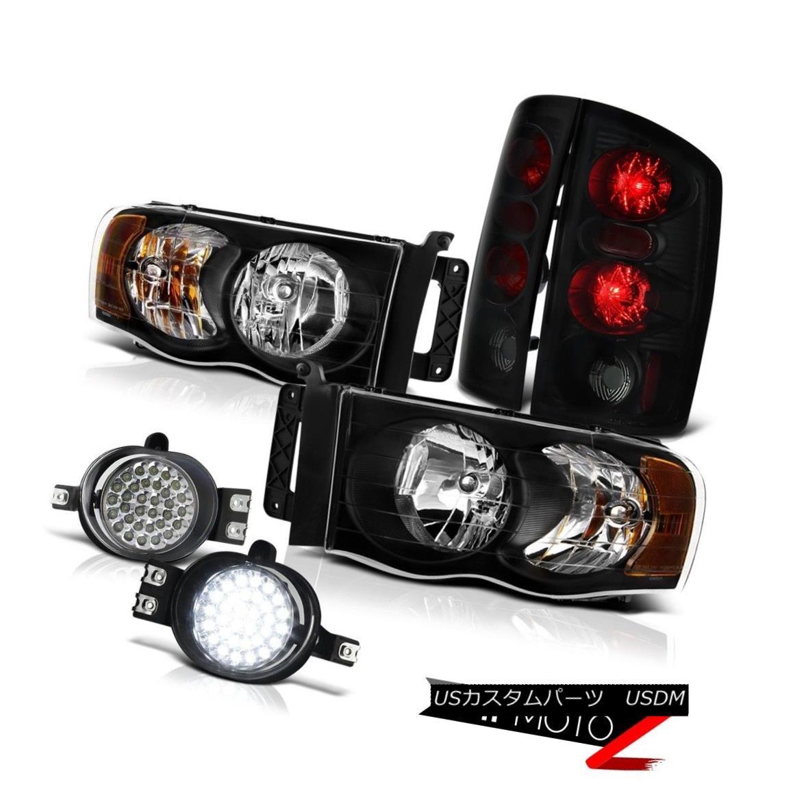 ヘッドライト 2002 2003 2004 2005 Dodge Ram Headlights {Sinister Black} TAIL LIGHT FOG LIGHT 2002 2003 2004 2005ダッジラムヘッドライト{Sinister Black}テールライトフォグライト