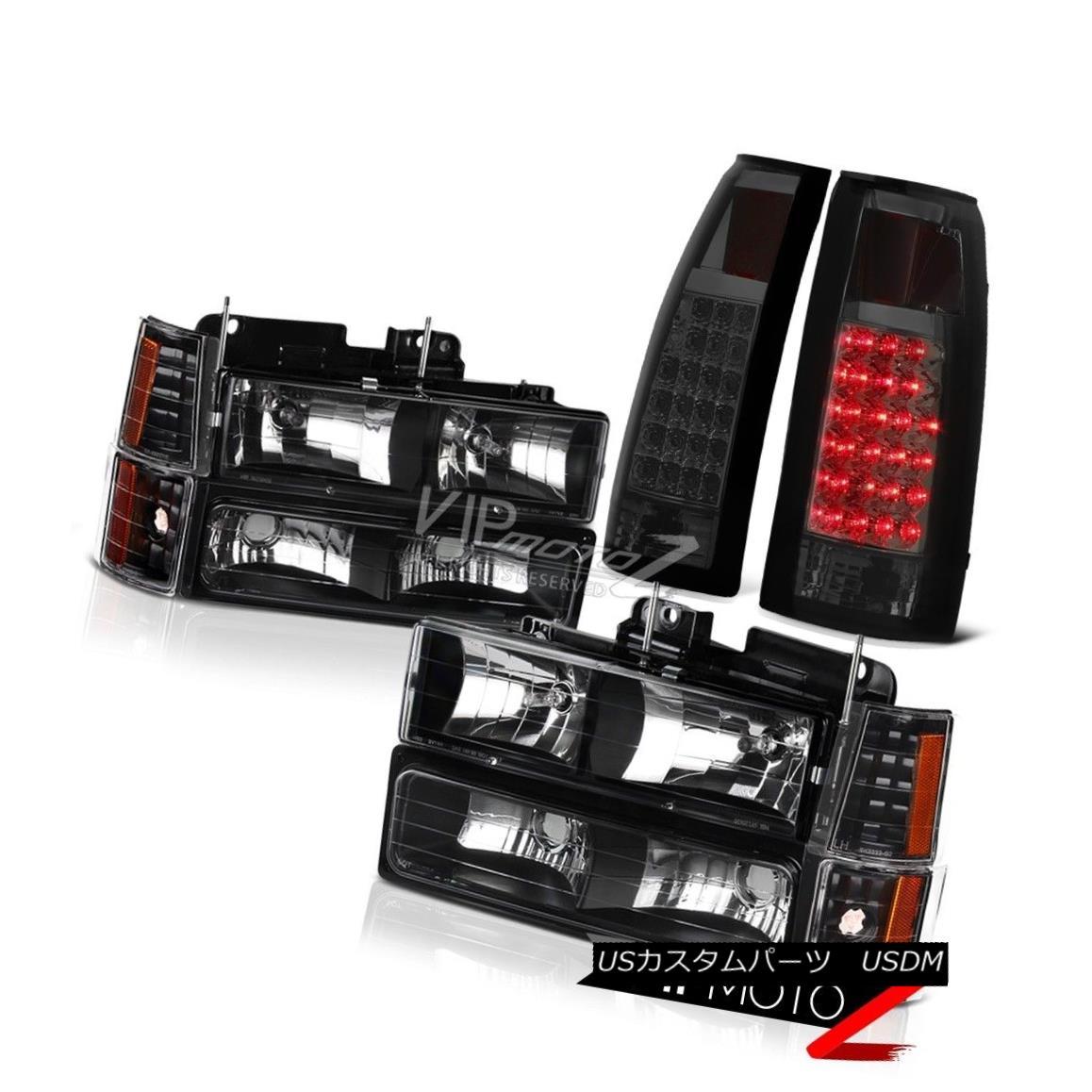 ヘッドライト GMC Suburban Sierra Yukon Black Front Head Light LED Rear Tail Lamp Brake Signal GMC郊外Sierra YukonブラックフロントヘッドライトLEDリアテールランプブレーキ信号
