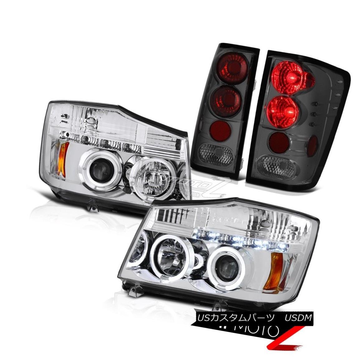 ヘッドライト For 2004-2015 09 Titan XE Crystal Halo LED Headlights Altezza Tinted Tail Light 2004年?2015年09 Titan XEクリスタルハローLEDヘッドライトAltezza Tinted Tail Light
