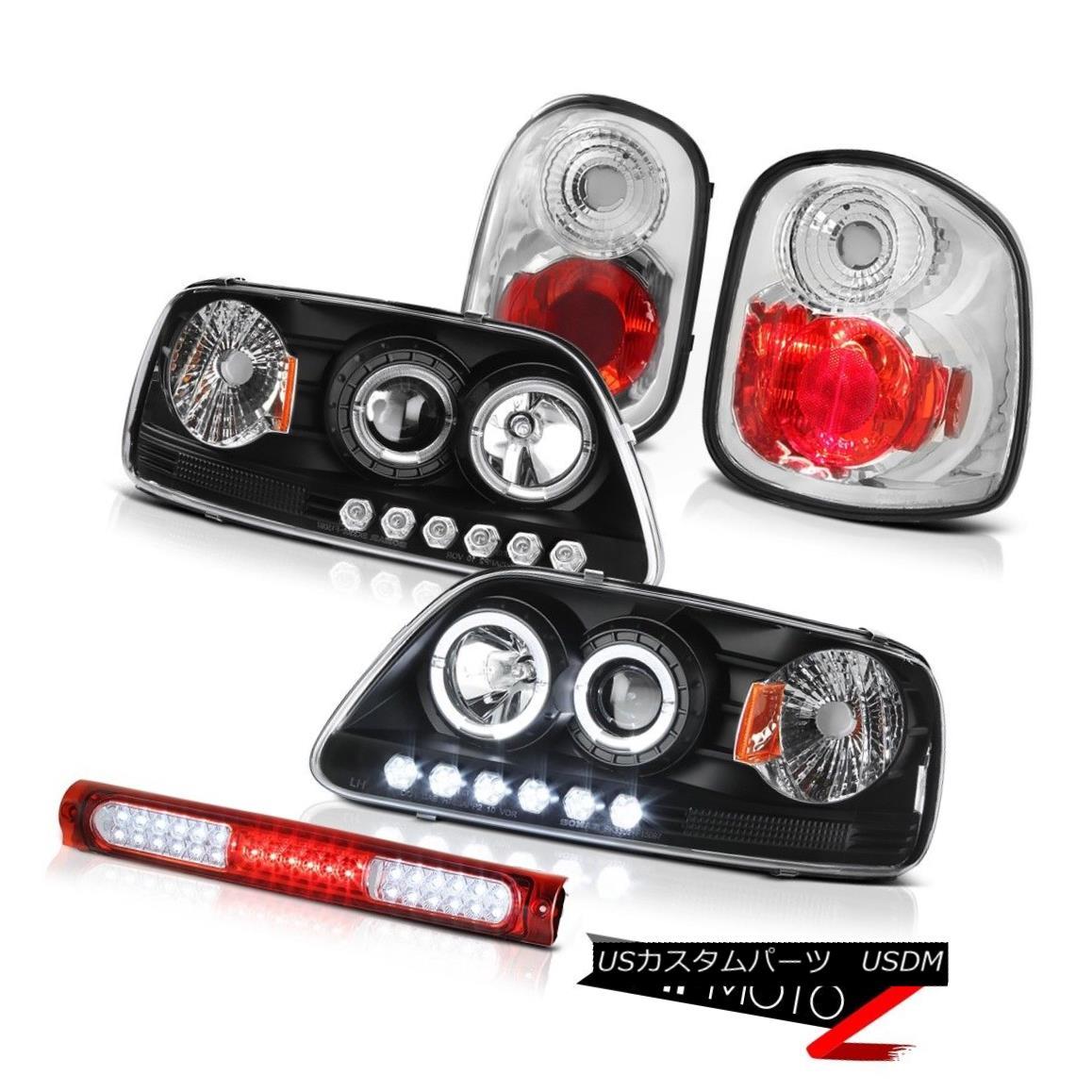 ヘッドライト Angel Eye Headlights Reverse Brake Lamps Roof LED Red 97-00 Ford F150 Flareside エンジェルアイヘッドライトリバースブレーキランプルーフLEDレッド97-00 Ford F150 Flareside