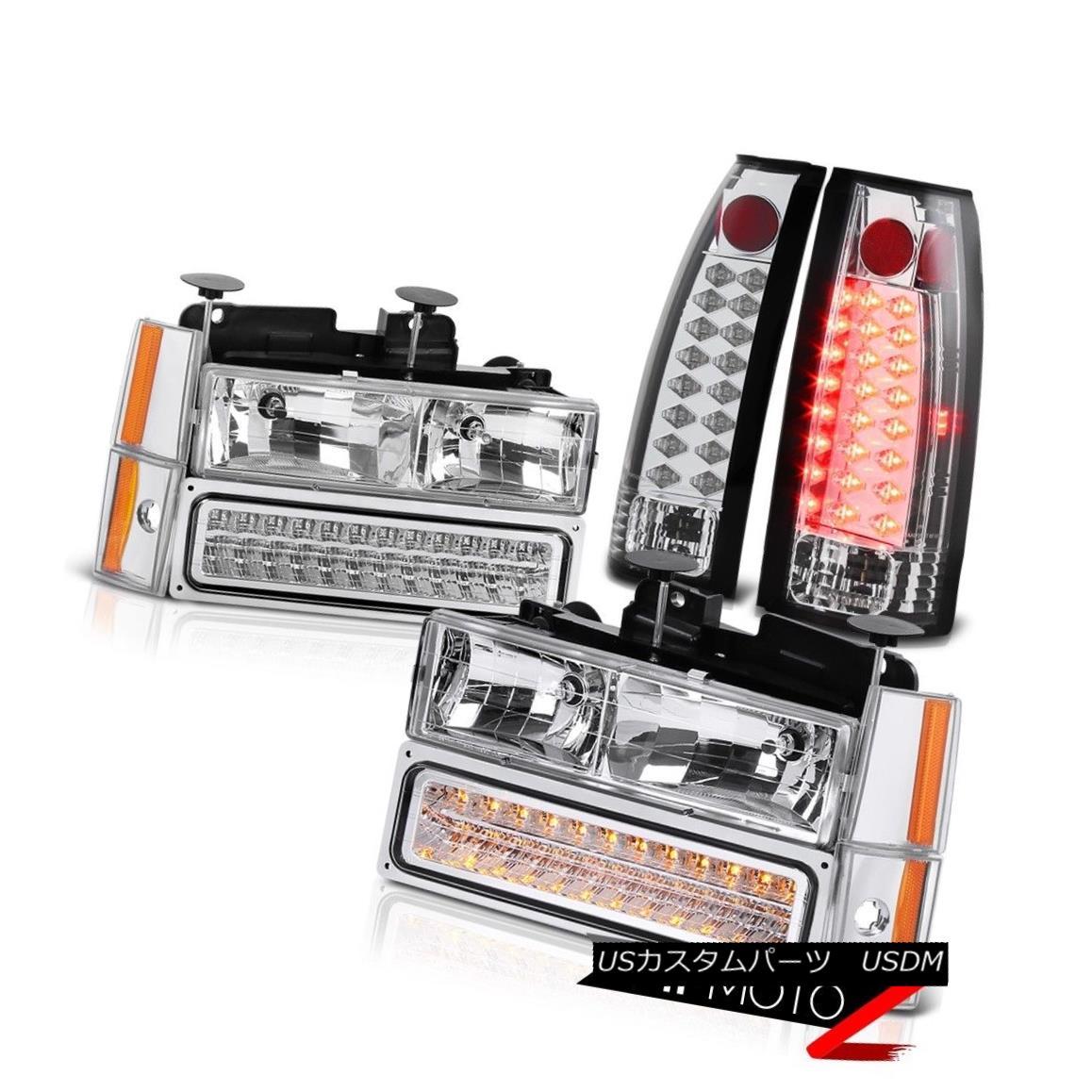 ヘッドライト 1988-1993 Chevy Silverado K1500 K2500 C1500 C2500 LED Headlight Tail Lamps SET 1988-1993 Chevy Silverado K1500 K2500 C1500 C2500 LEDヘッドライトテールランプ