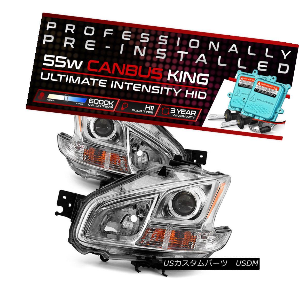 ヘッドライト !55W HID Built-In! For 09-13 Nissan Maxima Factory Style Replacement Headlight !55W HID内蔵! 09?13日産マキシマ工場スタイルの交換用ヘッドライト