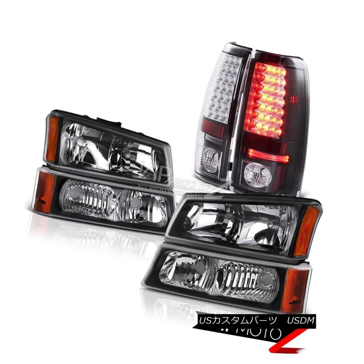 ヘッドライト Headlight Bumper Black Brake LED Tail Light 03 04 05 06 Silverado DuraMax 6.6L ヘッドライトバンパーブラックブレーキLEDテールライト03 04 05 06シルバラードDuraMax 6.6L