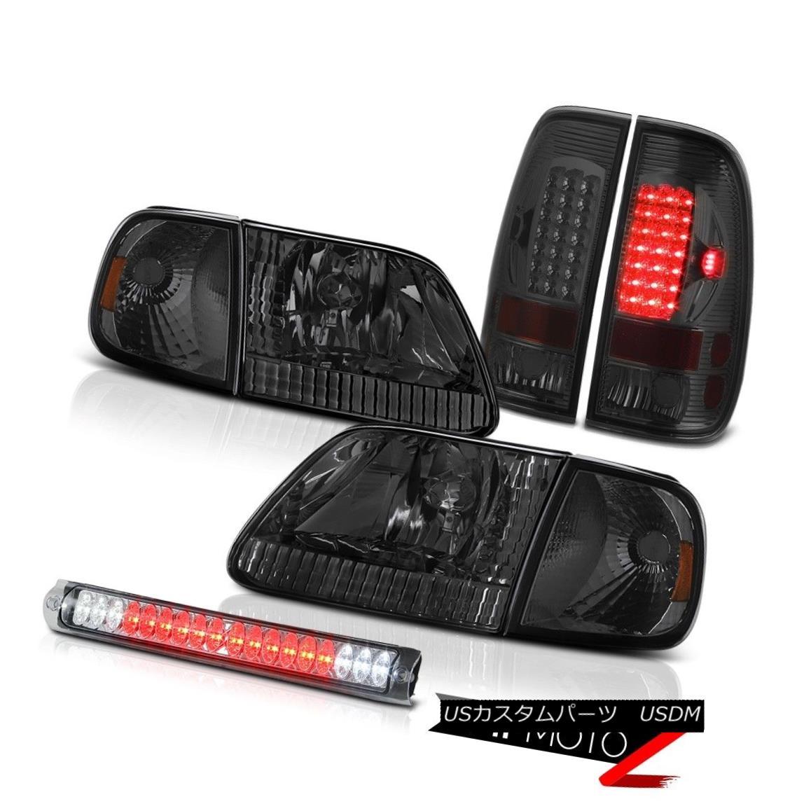ヘッドライト 97 98 99 00 F150 Lariat Tinted Headlamps Smoked LED Taillamps Third Brake Cargo 97 98 99 00 F150 Lariat TintedヘッドランプスモークLEDタイルランプ第3ブレーキ貨物