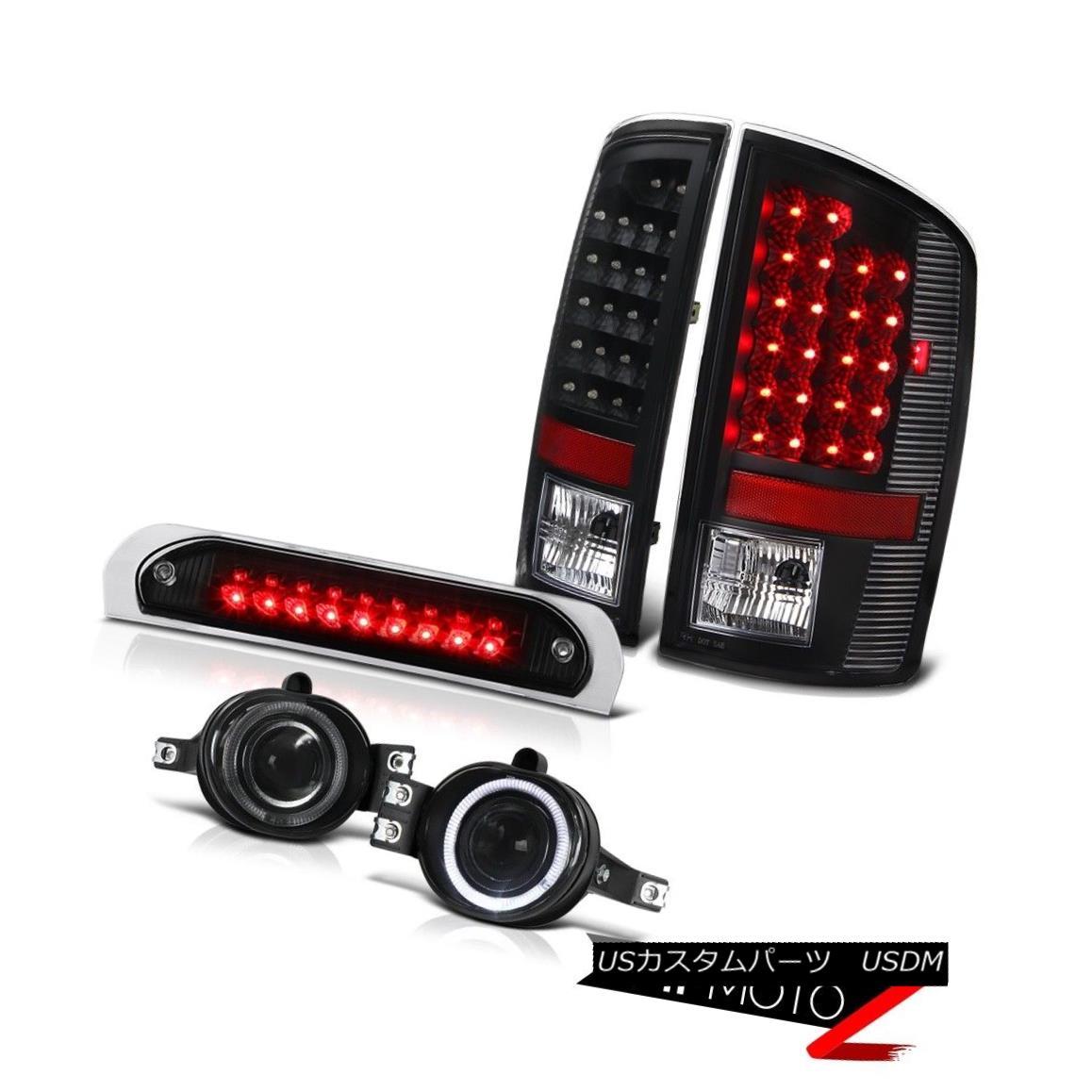 ヘッドライト Black Brake Tail Lights Projector Foglights High Cargo LED 02 03 04 05 Ram V8 ブラックブレーキテールライトプロジェクターフォグライトハイカーゴLED 02 03 04 05 Ram V8