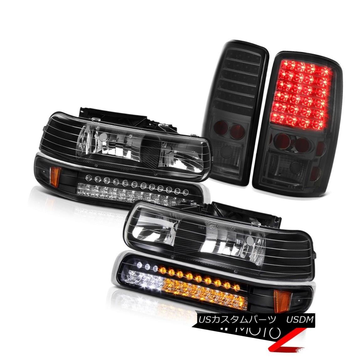 ヘッドライト 00-06 Suburban 1500 Black LED Parking Headlights