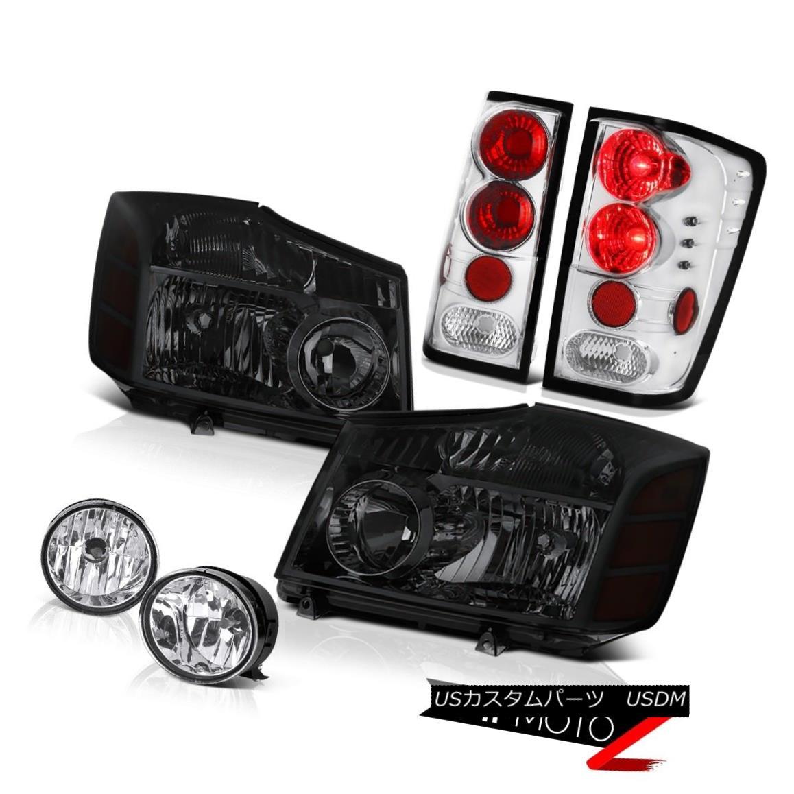 ヘッドライト For 2004-2015 09 10 Titan XE Tinted Headlights Euro Rear Tail Lights Fog Lamps 2004年?2015年09 10 Titan XEティアードヘッドライトユーロリアテールライトフォグランプ