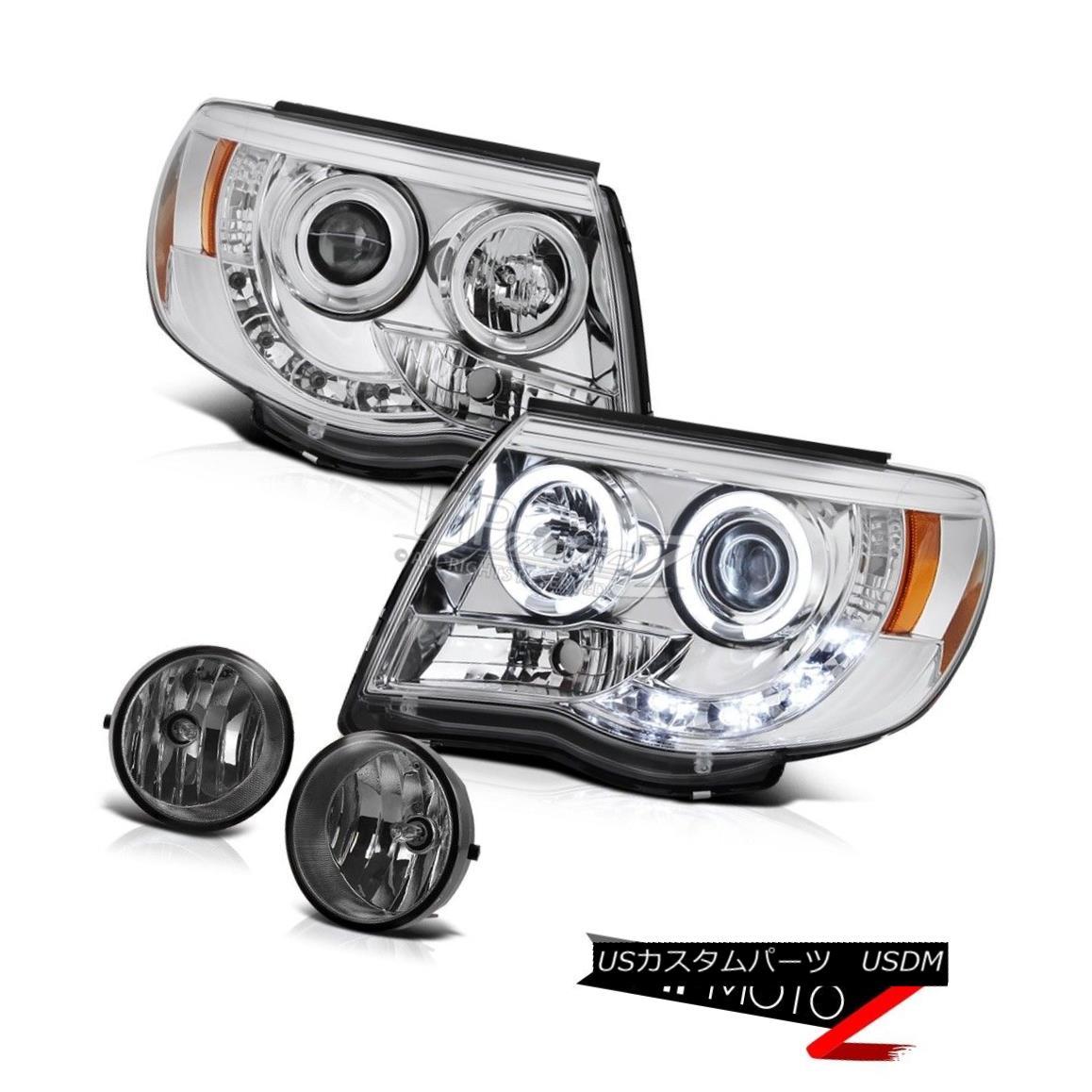 ヘッドライト 2005-2011 Tacoma TRD Offroad CCFL Halo Rim DRL LED Headlights Driving Foglights 2005-2011 Tacoma TRDオフロードCCFL Halo Rim DRL LEDヘッドライトフォグライトの駆動