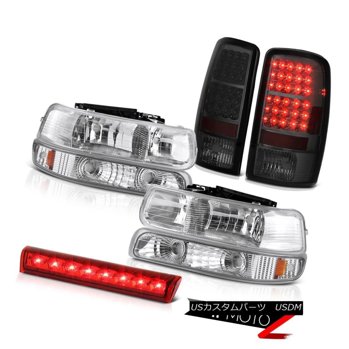 ヘッドライト 2000-2006 Suburban 5.7L Signal Headlights Smoke LED Brake Lamps Wine Red Third 2000-2006郊外5.7L信号ヘッドライトスモークLEDブレーキランプワインレッド3