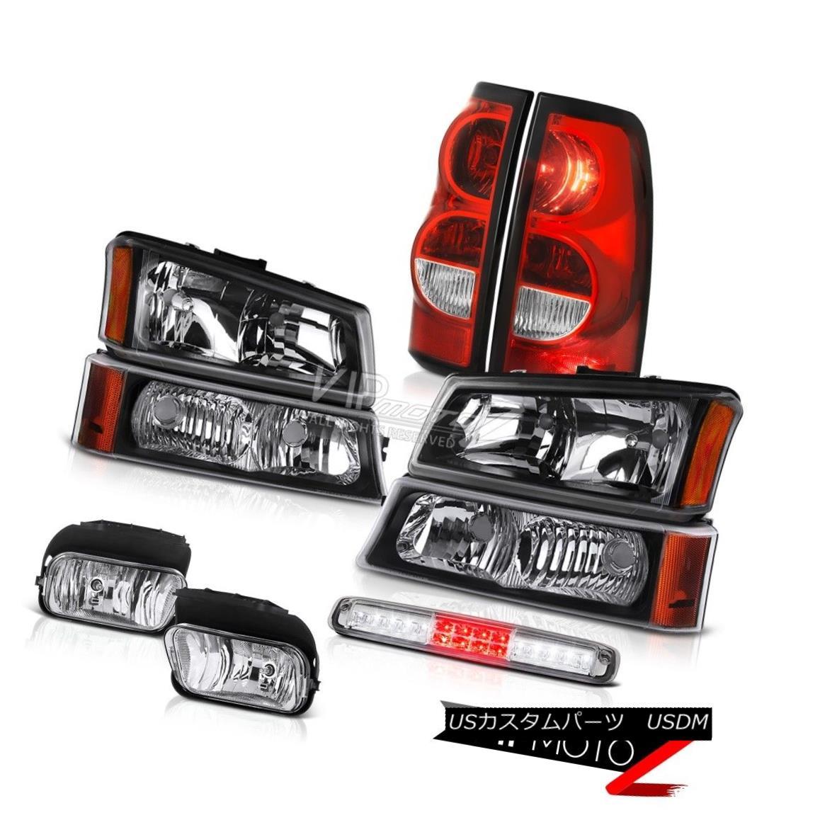 ヘッドライト 03-06 Silverado Chrome Roof Cab Lamp Fog Lamps Taillamps Turn Signal Headlights 03-06シルバラードクロームルーフキャブランプフォグランプタイルランプターンシグナルヘッドライト