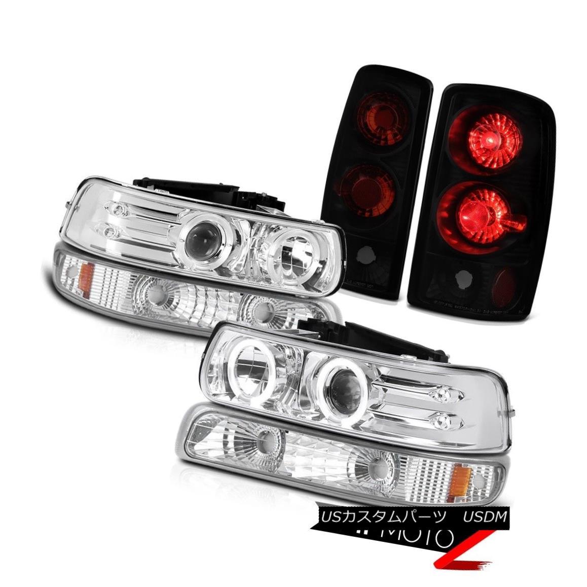 ヘッドライト Chrome LED Headlights Euro Bumper Sinister Black Brake Lights 2000-2006 Tahoe LT クロームLEDヘッドライトユーロバンパー灰色のブラックブレーキライト2000-2006タホLT