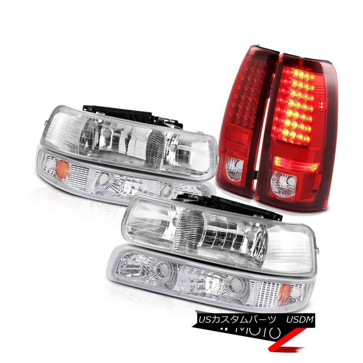 ヘッドライト COMBO 6PC 1999-2002 Silverado 1500 2500 HD Headlights Parking Red Tail Lights コンボ6PC 1999-2002 Silverado 1500 2500 HDヘッドライトパーキング赤テールライト
