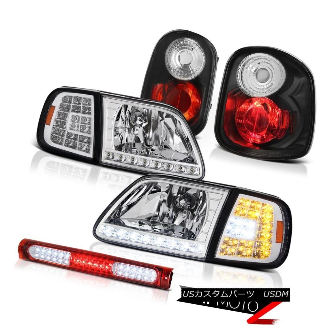 ヘッドライト LED Signal Headlamps Rear Brake Lights Roof Red 1997-2000 F150 Flareside Lariat LEDシグナルヘッドランプリアブレーキライトルーフレッド1997-2000 F150 Flareside Lariat