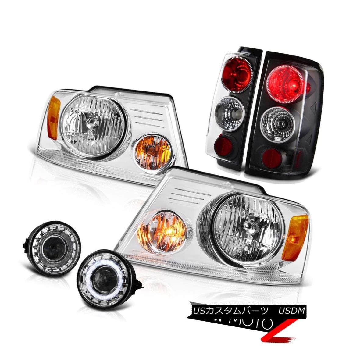 ヘッドライト [ANGEL EYE] 2006 2007 2008 FORD F150 Glass Fog Lamp+Headlights+Rear Tail Lights [ANGEL EYE] 2006 2007 2008フォードF150ガラスフォグランプ+ヘッドライト s +リアテールライト