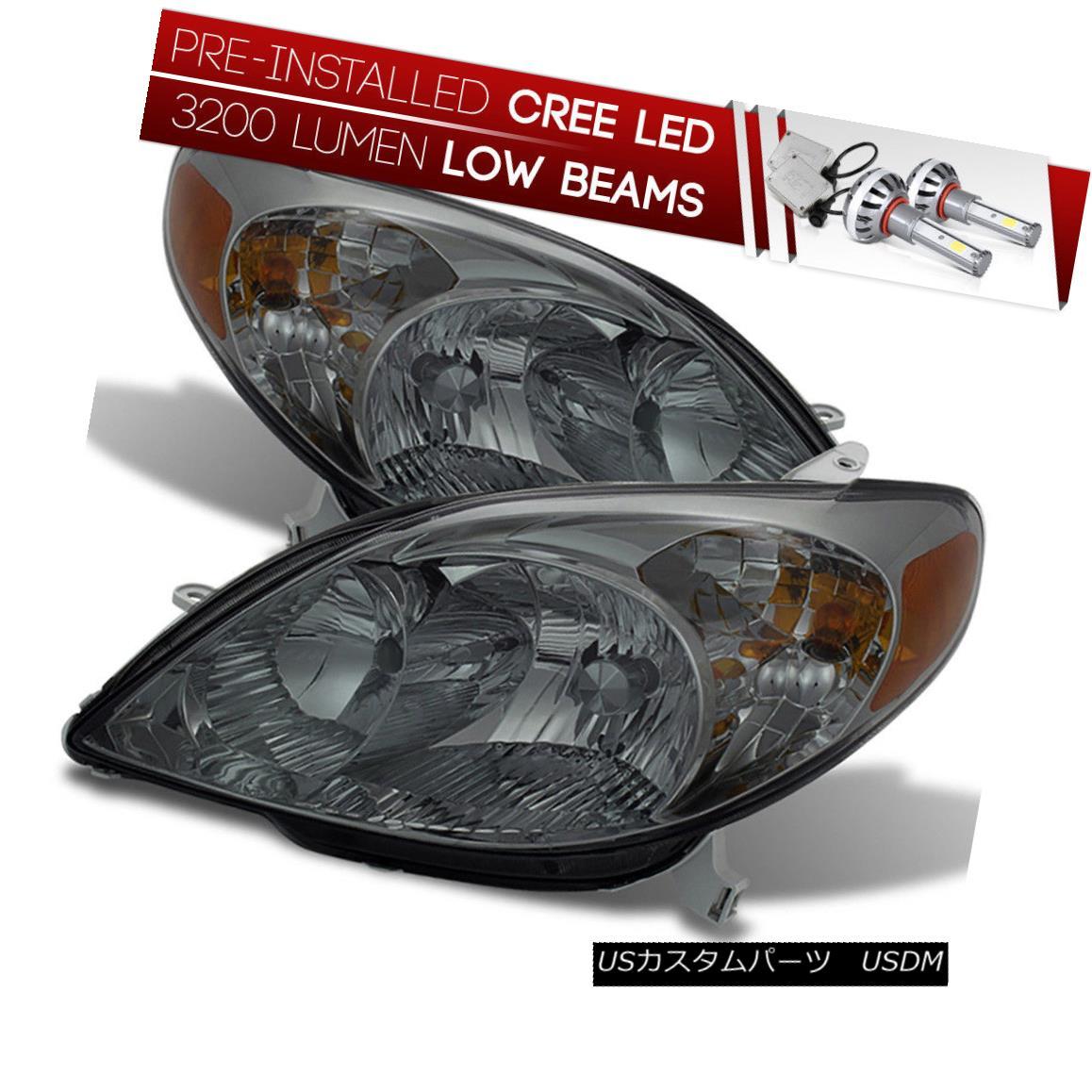 ヘッドライト [CREE LED Bulb Installed] 03-08 Toyota Matrix Smoked Replacement Headlight Lamp [CREE LED Bulb Installed] 03-08トヨタマトリックススモーク交換ヘッドランプ