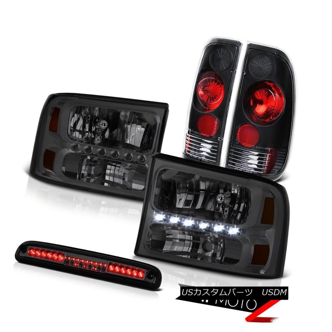 ヘッドライト 99-04 Ford SuperDuty Crystal Headlights Rear Signal Brake Lights Third Cargo LED 99-04 Ford SuperDutyクリスタルヘッドライトリアシグナルブレーキライト第3貨物LED