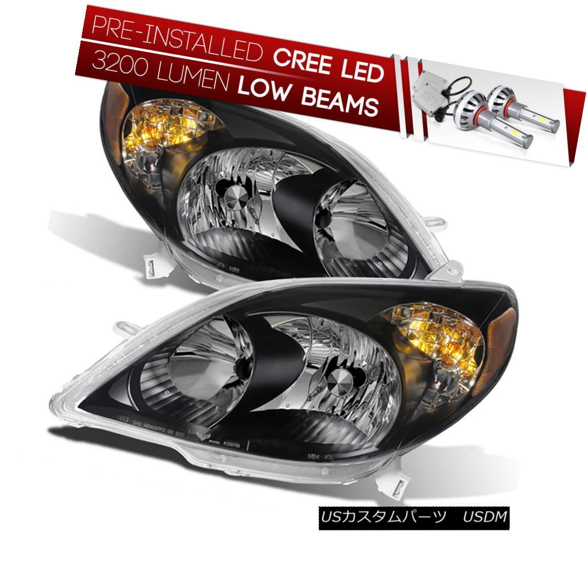 ヘッドライト [CREE LED Bulb Installed] 03-08 Toyota Matrix Black Replacement Headlight Lamp [CREE LED Bulb Installed] 03-08トヨタマトリックスブラック交換ヘッドランプ