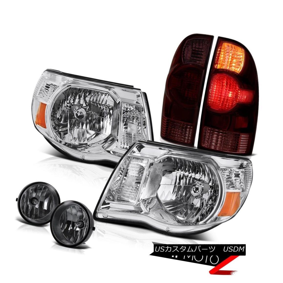 ヘッドライト 05-11 Toyota Tacoma 4X4 Graphite smoke taillamps euro chrome headlamps fog lamps 05-11トヨタタコマ4X4グラファイト煙テールランプユーロクロームヘッドランプフォグランプ