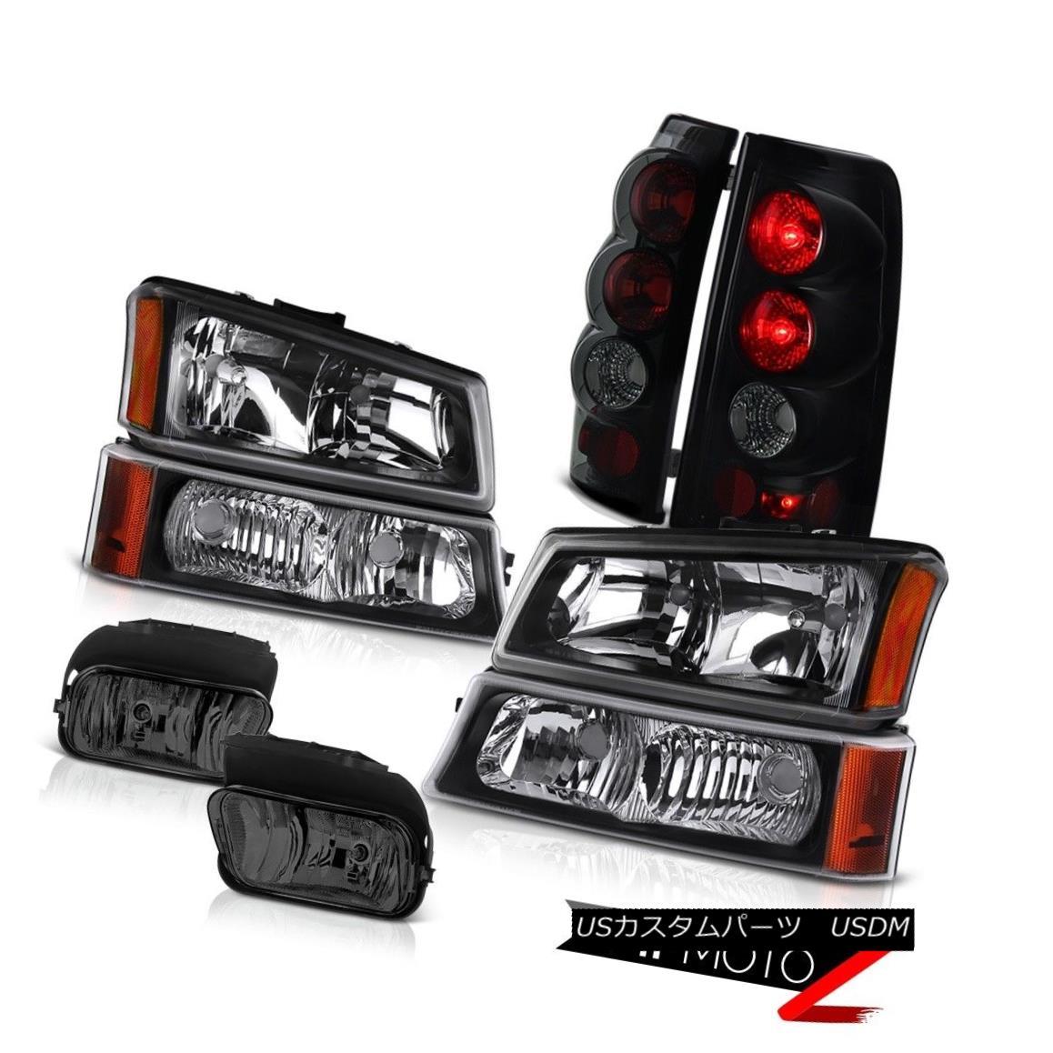 ヘッドライト 03-06 Silverado Black Head Light Lamp Turn Signal Parking Smoke Tail Driving Fog 03-06シルバラードブラックヘッドランプランプターンシグナル駐車煙テール運転霧
