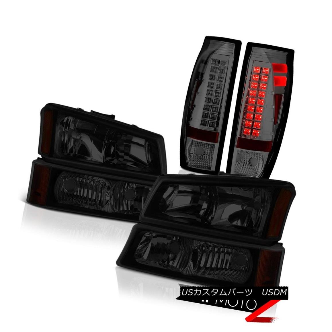 ヘッドライト 2003-2006 Chevy Avalanche Taillamps Dark Tinted Headlamps Oe Style
