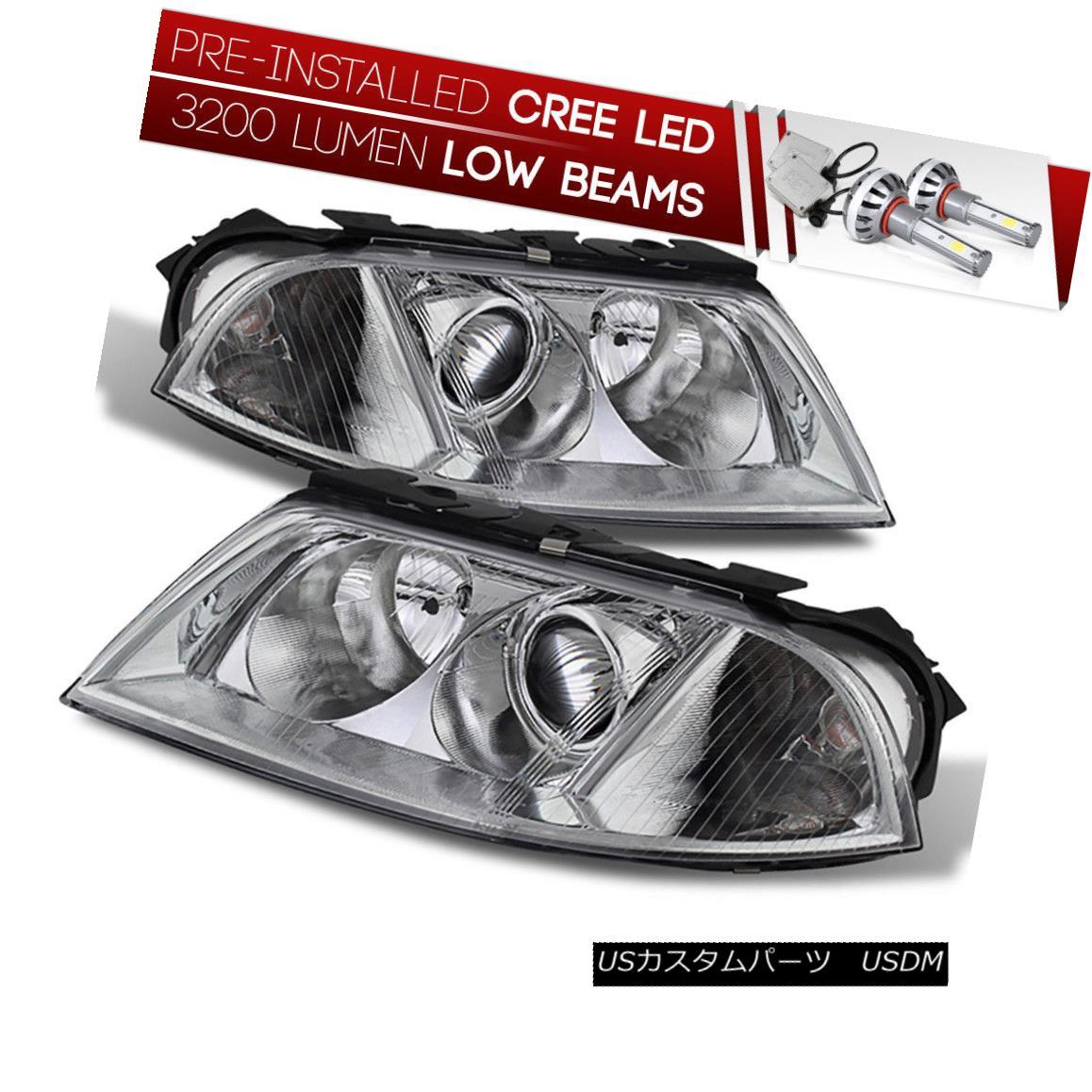 ヘッドライト [CREE LED Bulb Installed] 01-05 Volkswagen Passat Chrome Replacement Headlight [CREE LED Bulbをインストール] 01-05フォルクスワーゲンパサートクローム交換ヘッドライト
