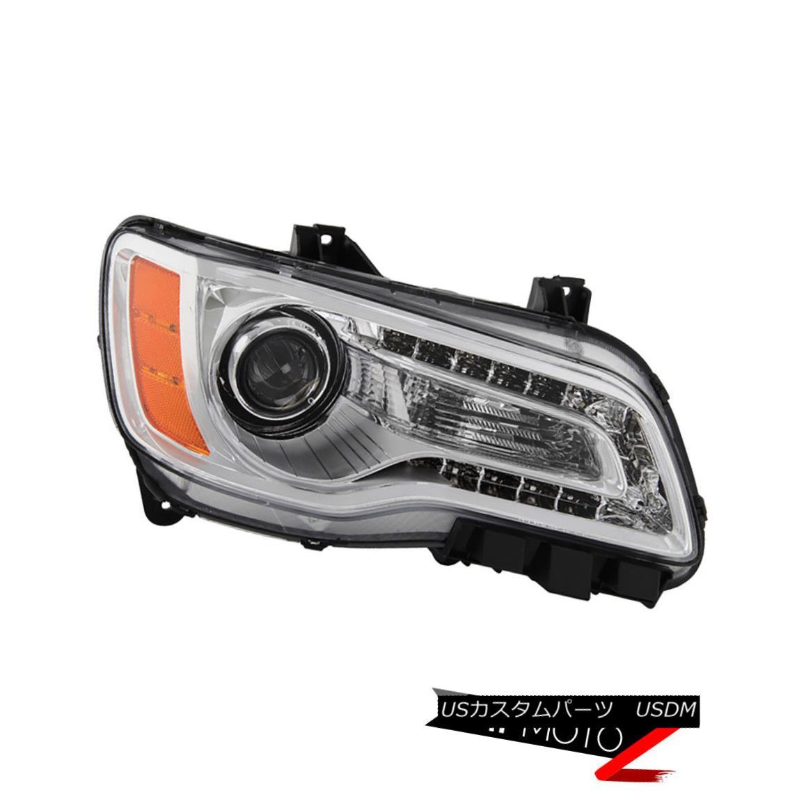 ヘッドライト {Passenger Side} 2011-2014 Chrysler 300 SRT LED Chrome DRL Headlight Right Lamp {乗客側} 2011-2014クライスラー300 SRT LEDクロームDRLヘッドライトライト