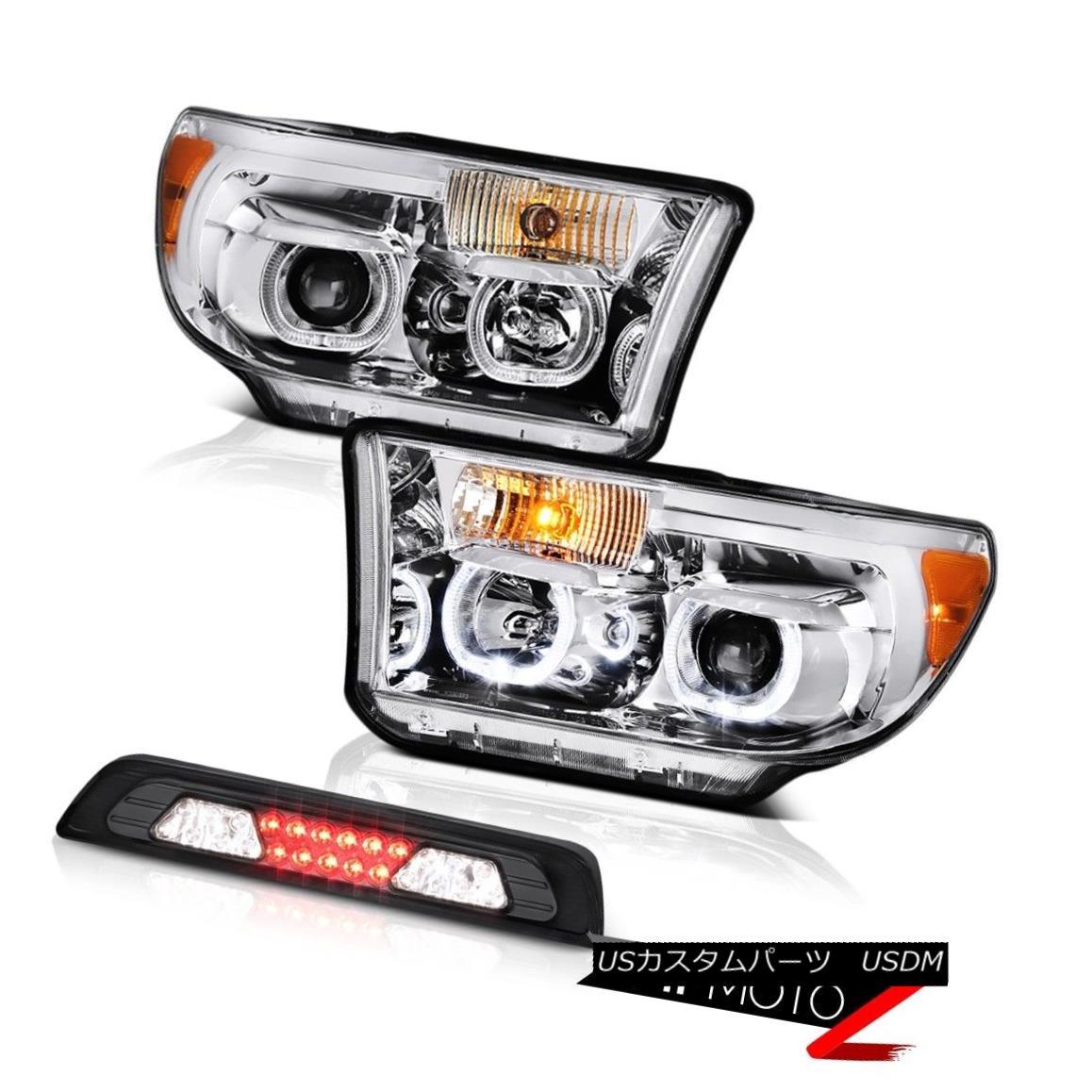 ヘッドライト 2007-2013 Toyota Tundra Limited Headlights Smokey Roof Cab Light LED Dual Halo 2007-2013 Toyota Tundra LimitedヘッドライトスモーキールーフキャブライトLEDデュアルヘイロー