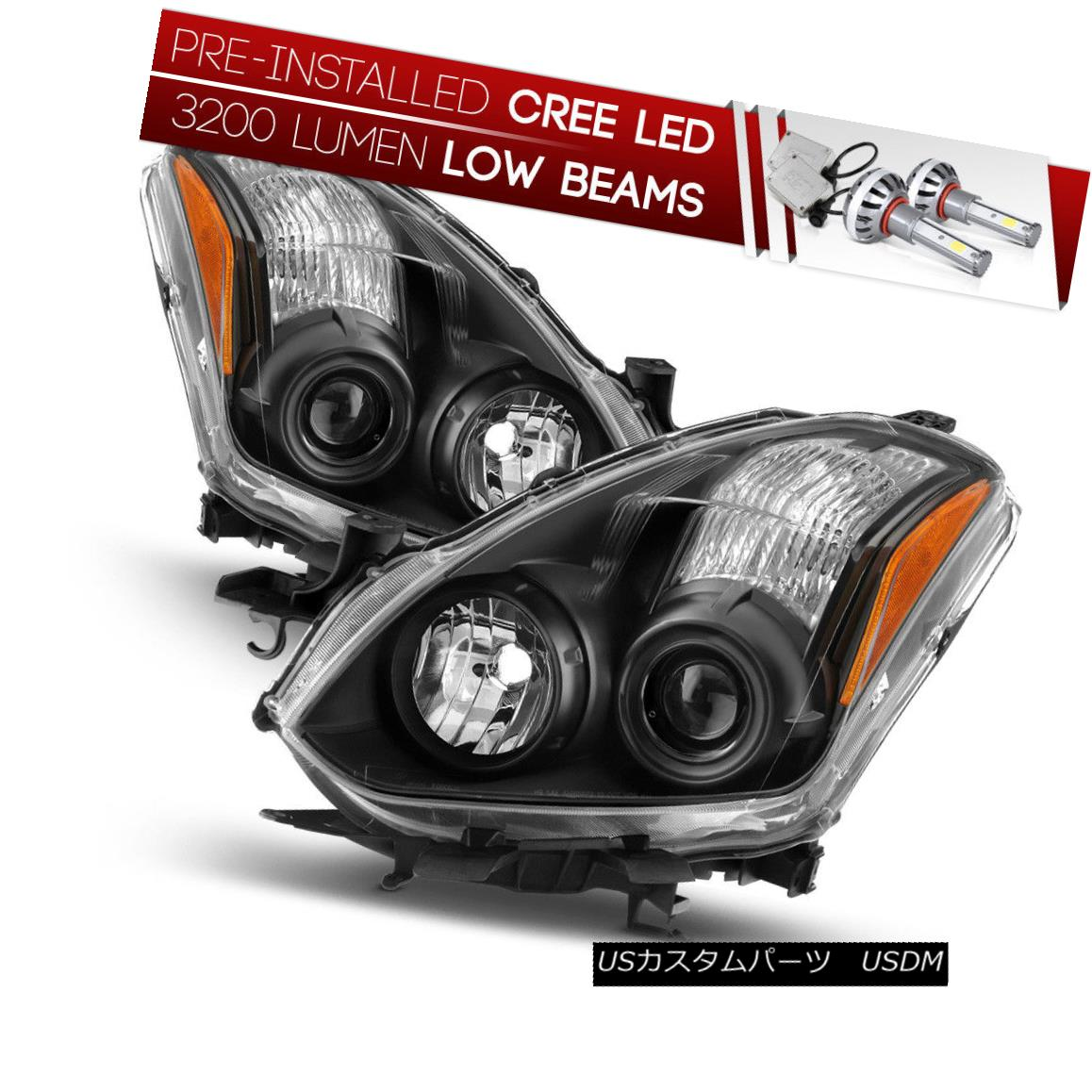 ヘッドライト [CREE LED Bulb Installed]For 10-13 Nissan Altima 2DR Black Replacement Headlight [CREE LED Bulb Installed] 10-13日産アルティマ2DRブラック交換ヘッドライト用