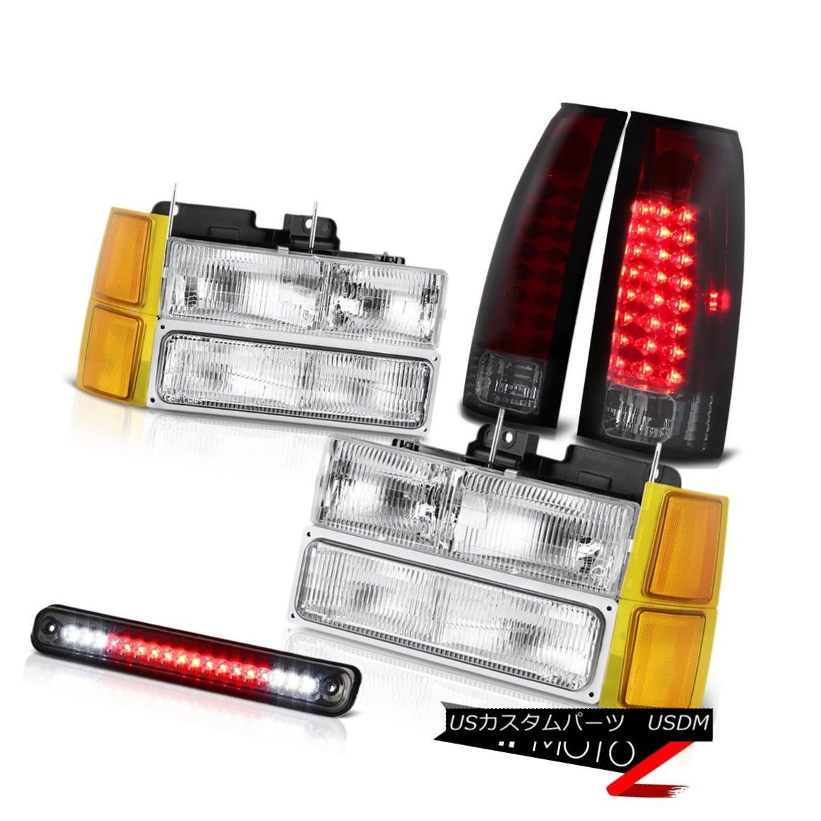 ヘッドライト 1994-1998 Chevy C/K Pickup Headlamps corner roof cargo lamp parking brake lights 1994-1998シボレーC / Kピックアップヘッドランプコーナールーフカーゴランプパーキングブレーキライト
