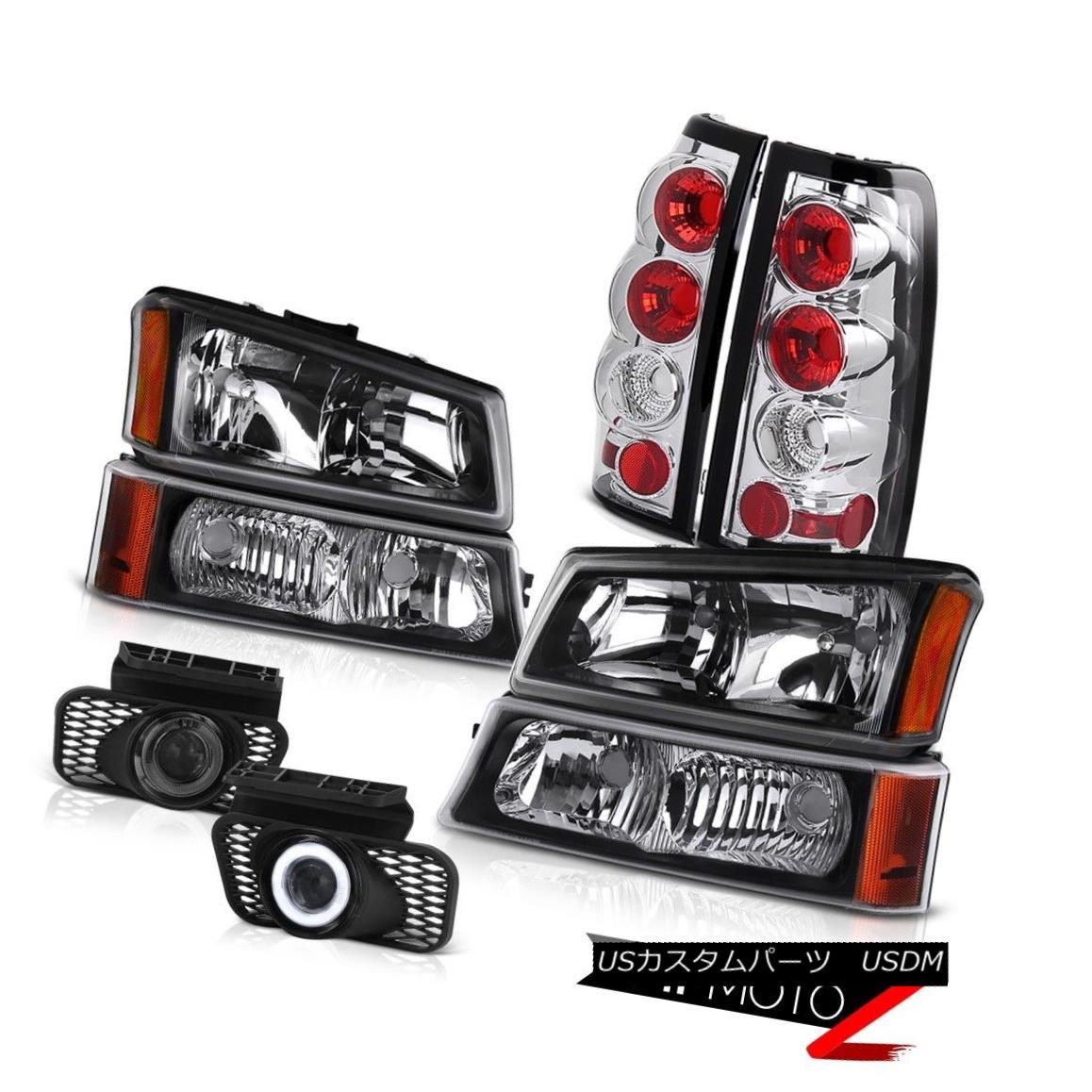ヘッドライト Black Headlamp Turn Signal Taillamps Wiring Foglight 2003-2006 Silverado 4.3L V6 ブラックヘッドランプターンシグナルトライアック配線Foglight 2003-2006 Silverado 4.3L V6