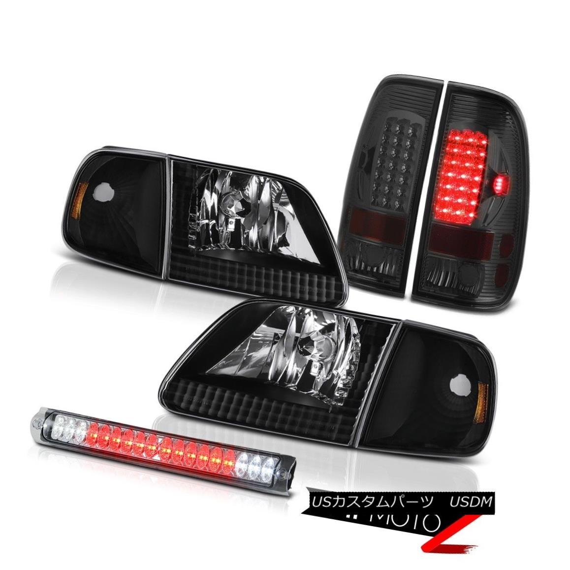 ヘッドライト 97 98 99 00 01 02 03 F150 Parking Headlams Smoked LED Taillamps High Stop Chrome 97 98 99 00 01 02 03 F150パーキングヘッドランプスモークLEDタイルランプハイストップクローム