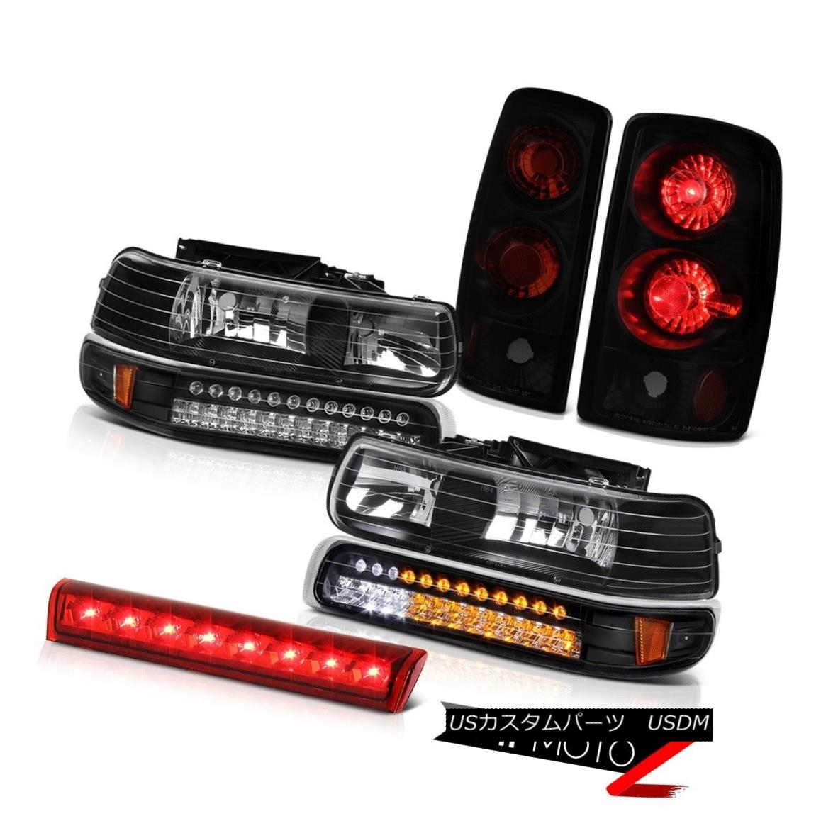 ヘッドライト 00-06 Tahoe LS Black LED Bumper Headlights Sinister Rear Tail Lights Roof Brake 00-06 Tahoe LSブラックLEDバンパーヘッドライト不快な後部テールライトルーフブレーキ