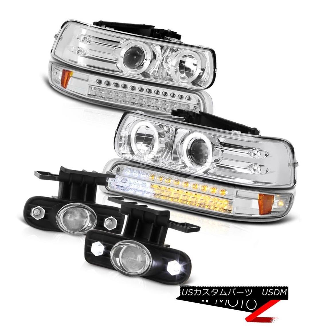 ヘッドライト 99-02 Silverado CCFL Halo Headlight Crystal LED Bumper Switch Relay Foglight 99-02 Silverado CCFL HaloヘッドライトクリスタルLEDバンパースイッチリレーFoglight