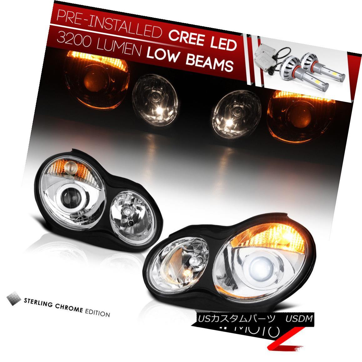 ヘッドライト [CREE LED Bulb Installed] 01-07 MB C-Class W203 Chrome Projector Headlight Lamp [CREE LED Bulbをインストール] 01-07 MB CクラスW203クロームプロジェクターヘッドライトランプ