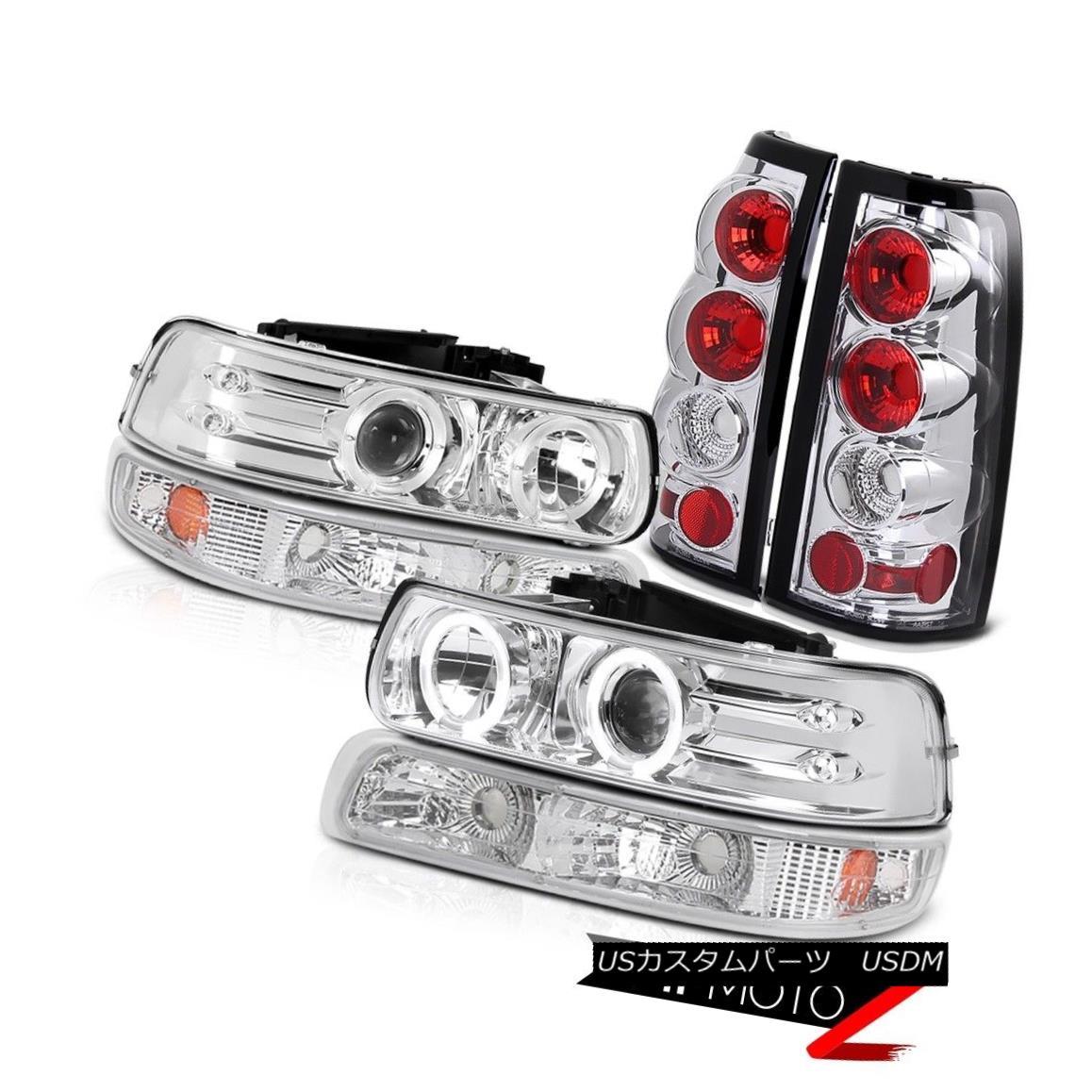 ヘッドライト 99-02 Silverado Heavy Duty LED Projector Headlight Bumper Lamp Tail Light Signal 99-02 SilveradoヘビーデューティーLEDプロジェクターヘッドライトバンパーランプテールライト信号