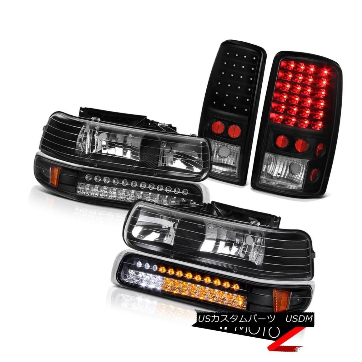 ヘッドライト 00-06 Suburban LS Matte Black LED Parking Headlights
