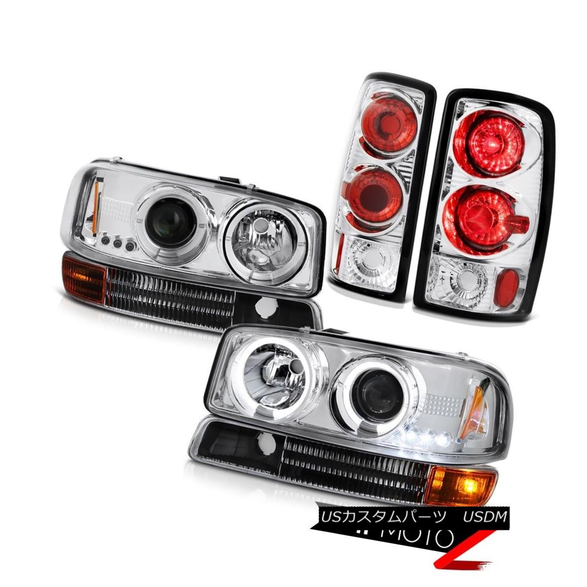ヘッドライト GMC 00-06 Yukon Halo Projector Headlight Headlamp Singal Bumper Clear Tail Light GMC 00-06ユーコンヘイロープロジェクターヘッドライトヘッドランプシンバルバンパークリアテールライト