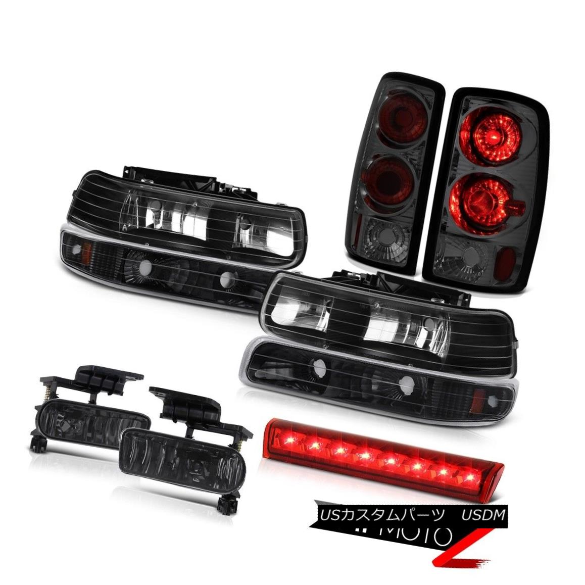 ヘッドライト 2000-2006 Suburban 1500 4X4 3rd brake lamp fog lights tail inky black Headlamps 2000-2006郊外1500 4X4第3ブレーキランプ霧ライトテールインクブラックヘッドランプ