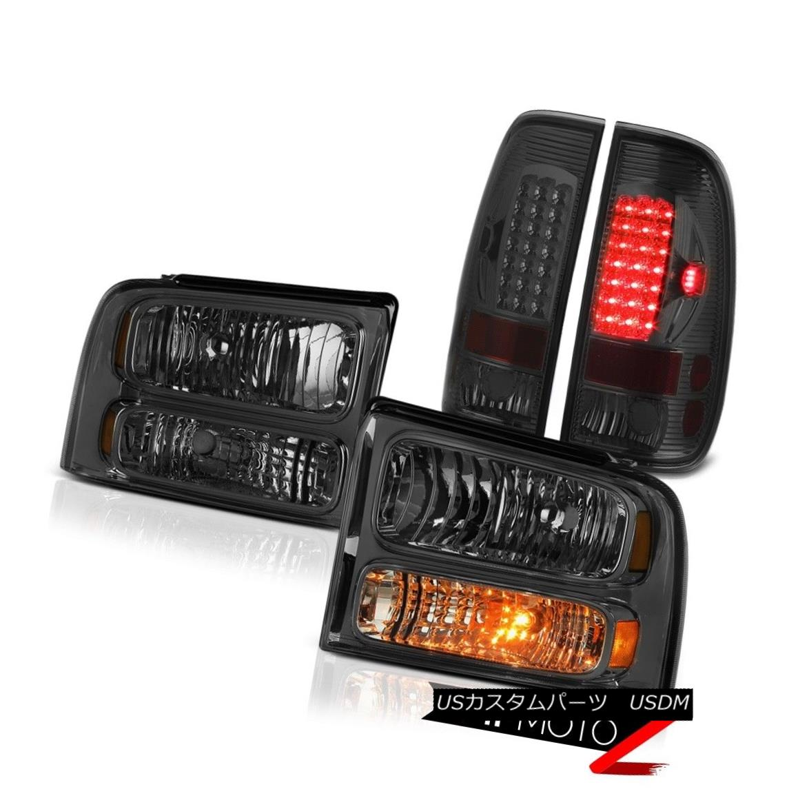 ヘッドライト Dark Smoke Replacement Headlights LED Tail Lights 2005 2006 2007 F250 Highline ダークスモーク代替ヘッドライトLEDテールライト2005 2006 2007 F250 Highline