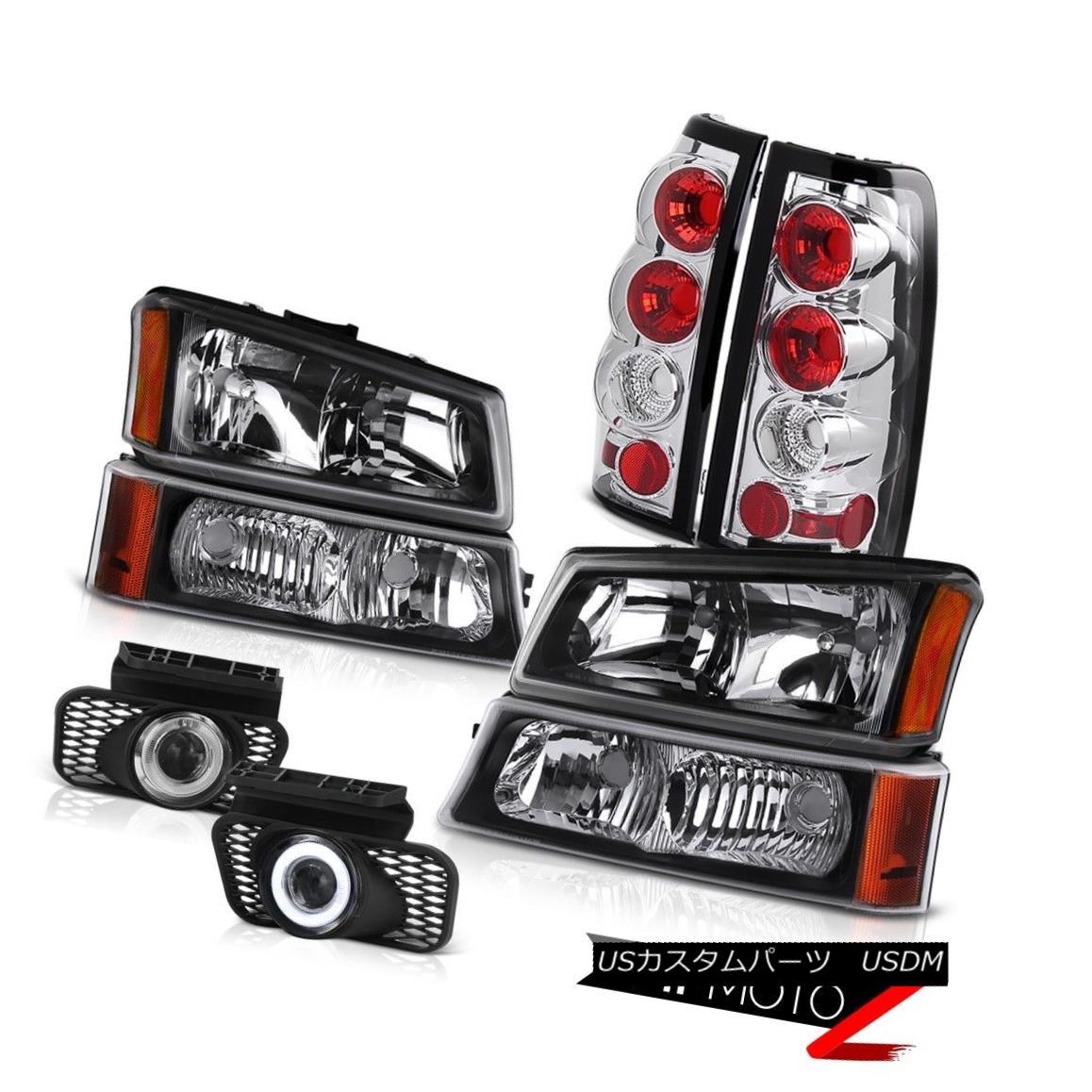 ヘッドライト Black Headlight Altezza Tail Lights Projector Foglamp 03-06 Silverado Vortec Max ブラックヘッドライトAltezzaテールライトプロジェクターFoglamp 03-06 Silverado Vortec Max