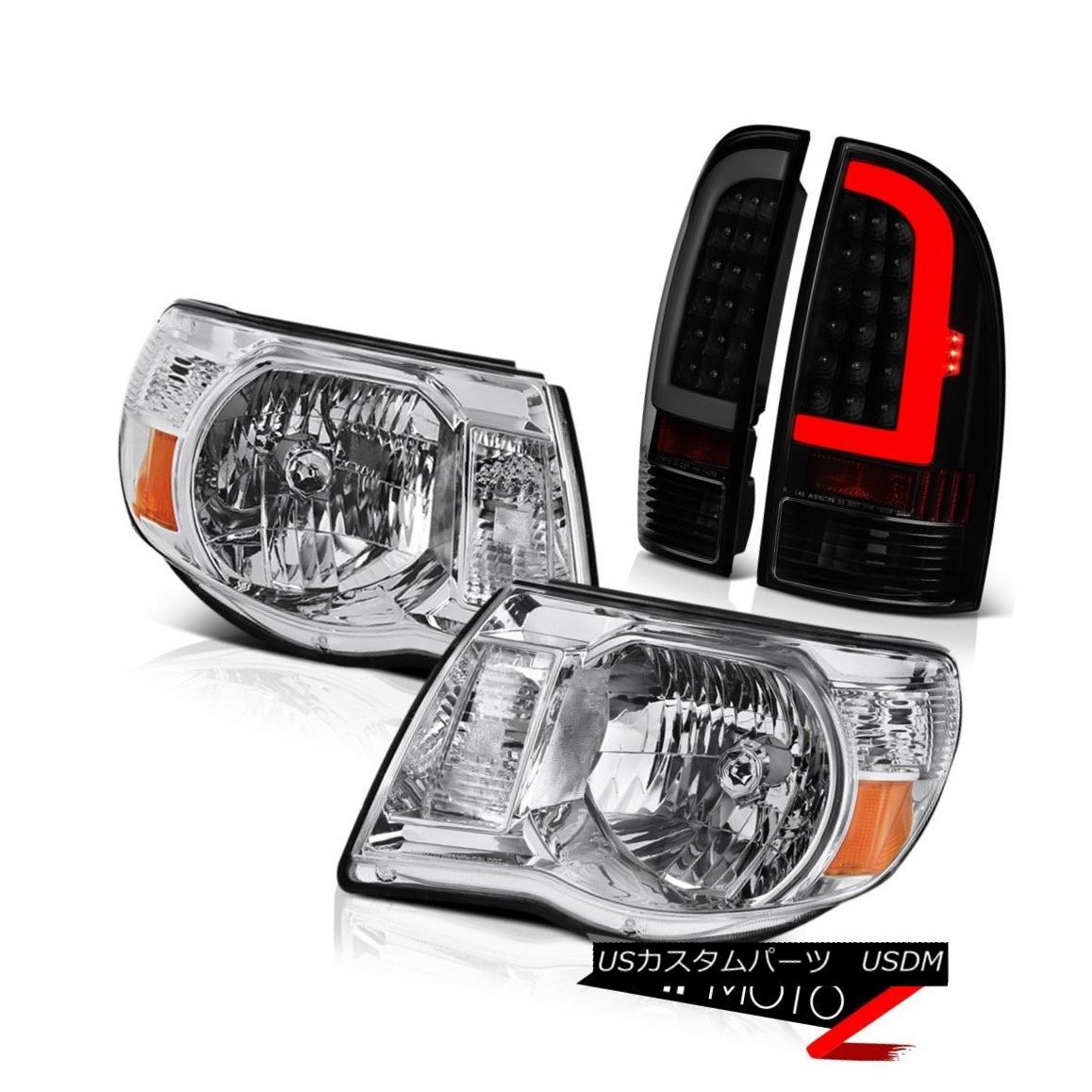 ヘッドライト 05 06-11 Toyota Tacoma Sinister Black Rear Crystal Clear Head Lamps Replacement 05 06-11トヨタタコマシニスターブラックリアクリスタルクリアヘッドランプ交換