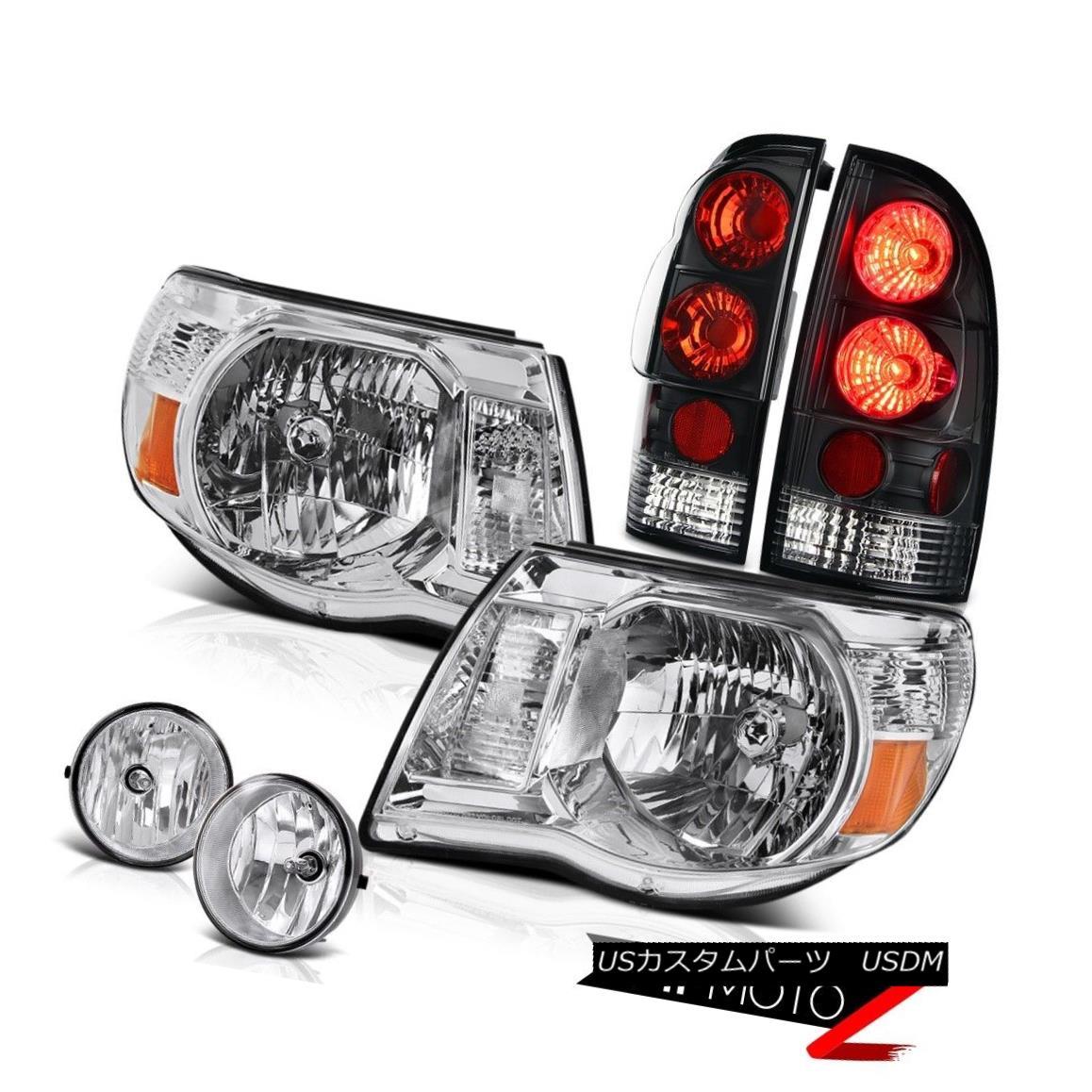ヘッドライト Crystal Clear Headlights Brake Tail Lights Fog Lamps 2005-2011 Tacoma PreRunner クリスタルクリアヘッドライトブレーキテールライトフォグランプ2005-2011 Tacoma PreRunner