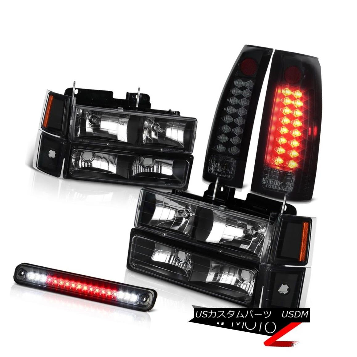 ヘッドライト 1994 1995 1996 1997 1998 Silverado 1500 2500 Smoke LED Tail Light 3RD Headlights 1994 1995 1995 1996 1997 1998 Silverado 1500 2500スモークLEDテールライト3RDヘッドライト
