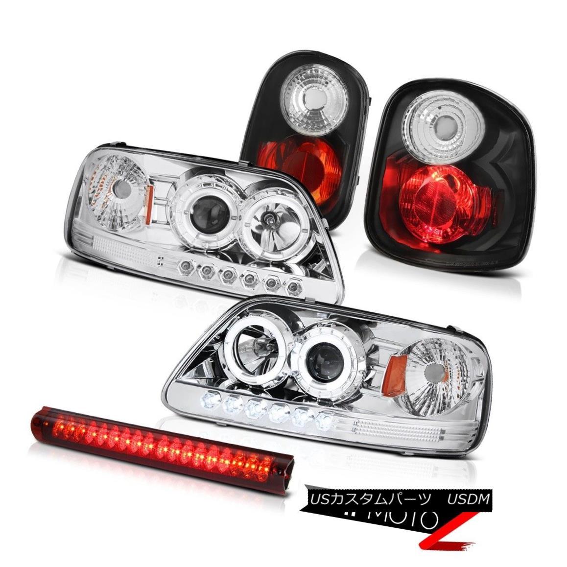 ヘッドライト Chrome LED Daytime Headlights Black Tail Lights 3rd Brake Red 2001-2003 F150 XLT クロームLEDデイタイムヘッドライトブラックテールライト3rdブレーキレッド2001-2003 F150 XLT