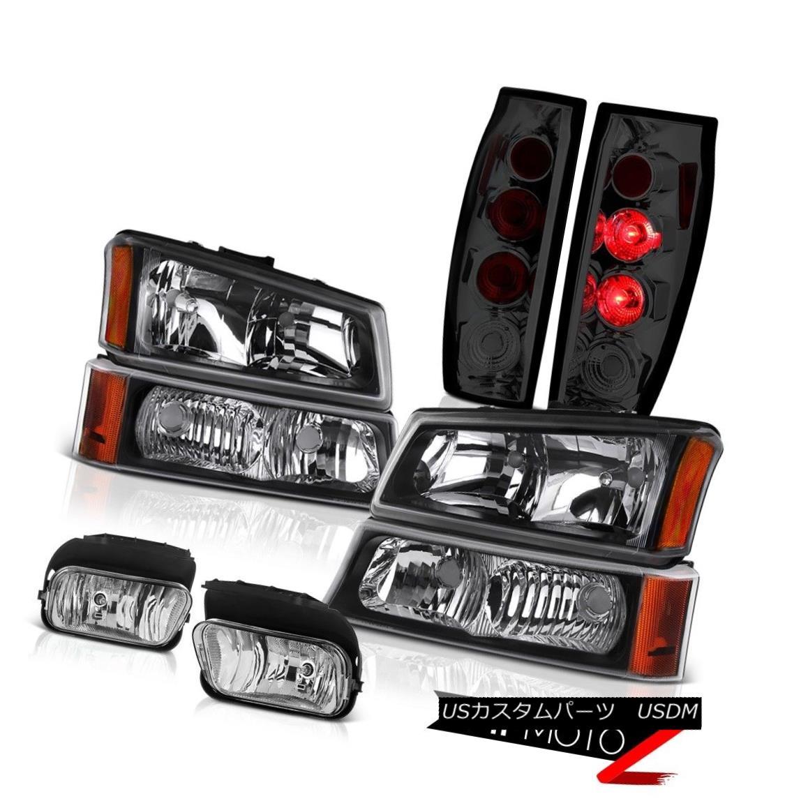 ヘッドライト 03-06 Avalanche Sterling Chrome Fog Lights Graphite Smoke Tail Brake Headlights 03-06アバランシェ・スターリング・クロッグ・フォグ・ライトグラファイト・スモークテール・ブレーキ・ヘッドライト