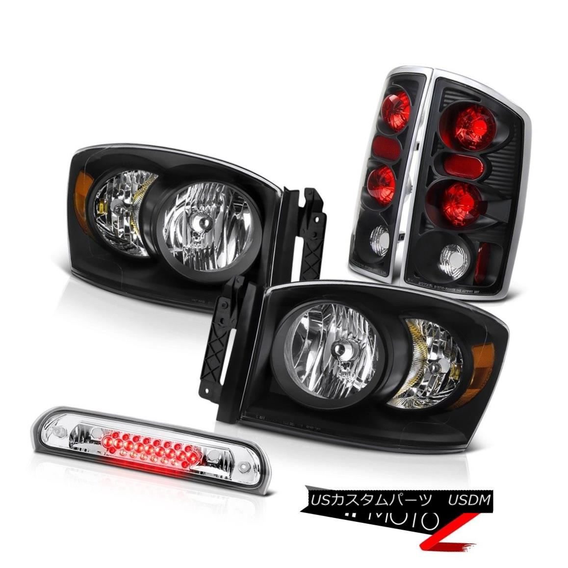 ヘッドライト 2006 Dodge Ram PowerTech Inky Black Headlights Rear Brake Lights Roof Cargo LED 2006 Dodge Ram PowerTech InkyブラックヘッドライトリアブレーキライトRoof Cargo LED