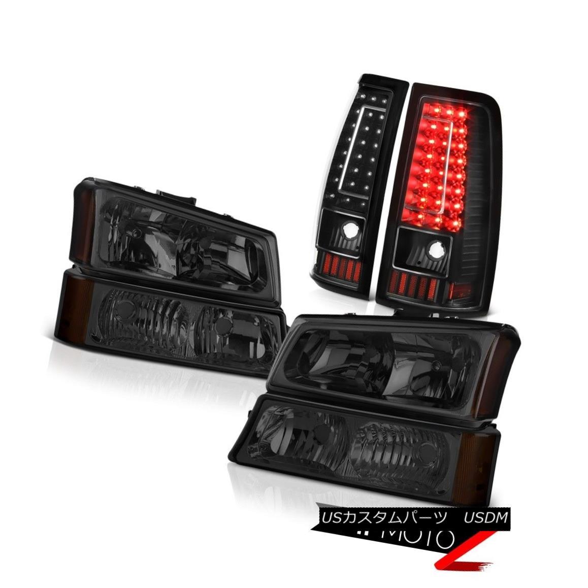 ヘッドライト 03 04 05 06 Silverado 1500 Tail Brake Lights Phantom Smoke Headlights Oe Style 03 04 05 06 Silverado 1500テールブレーキライトファントムスモークヘッドライトOeスタイル