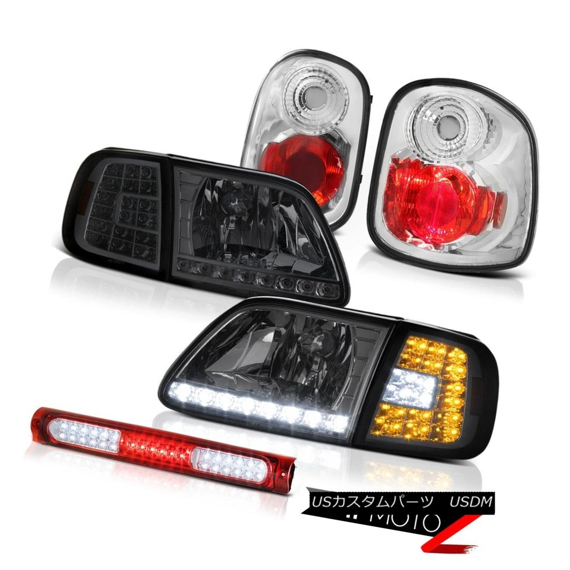 ヘッドライト LED Smoke Bumper+Headlamps Tail Lamps 3rd Brake 1997-2000 F150 Flareside 4.2L LEDスモークバンパー+ヘッドラム psテールランプ第3ブレーキ1997-2000 F150フラレージド4.2L