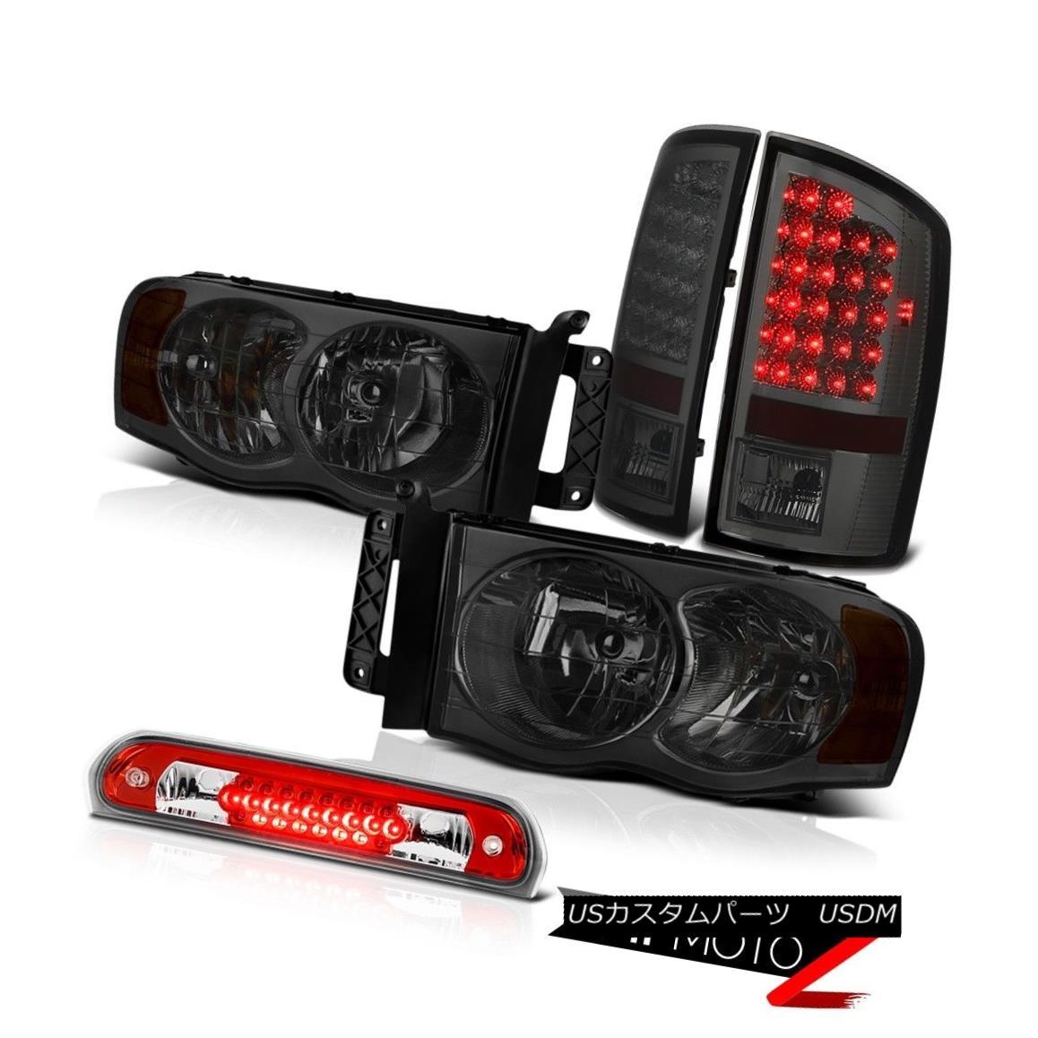 ヘッドライト Tinted Headlights L+R Smoke LED Tail Lamps Wine Red Third Brake 2002-2005 Ram ST 着色ヘッドライトL + RスモークLEDテールランプワインレッド第3ブレーキ2002-2005 Ram ST